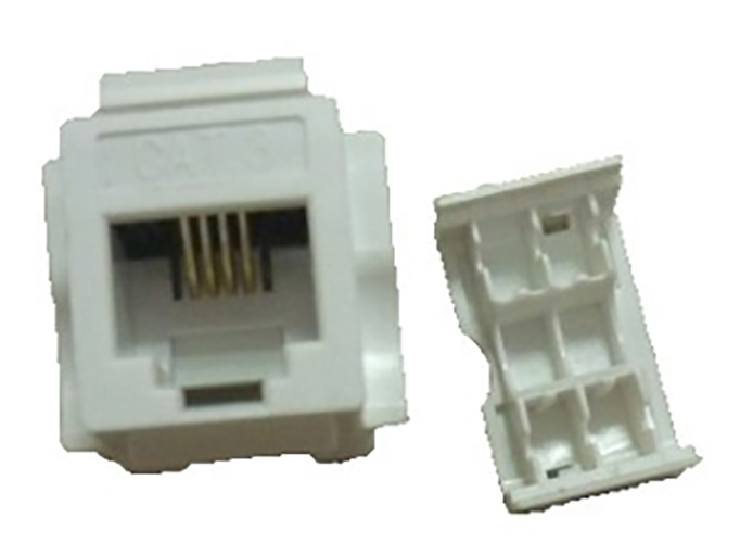 RJ11 3类非屏蔽网络模块CAT3 unshielded RJ11 Keystone Jack